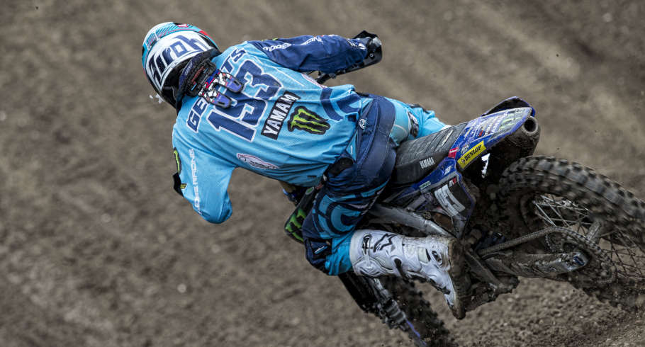 Jago Geerts in action at MXGP Trentino 2019