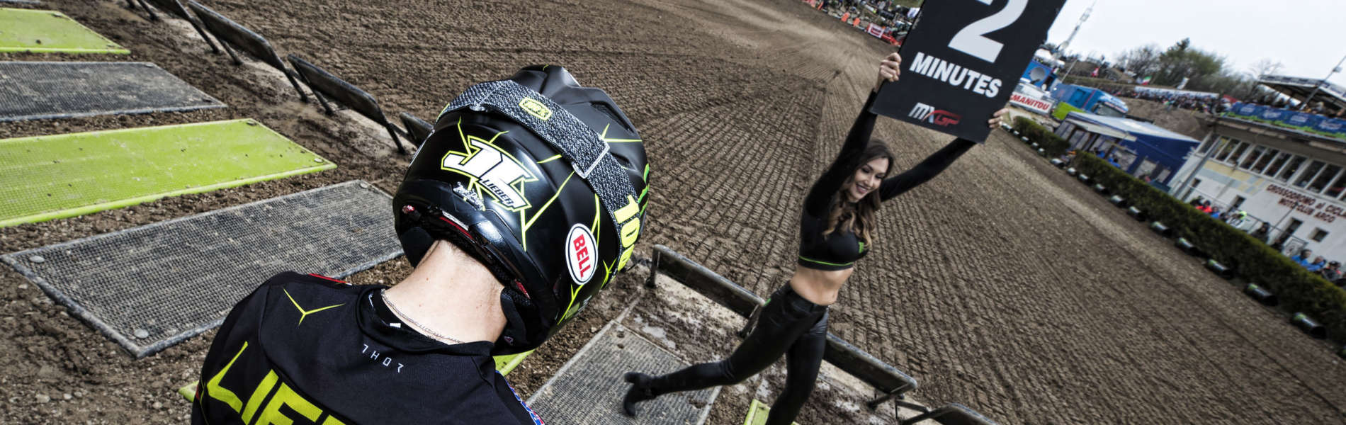 julien lieber in action at MXGP Trentino 2019