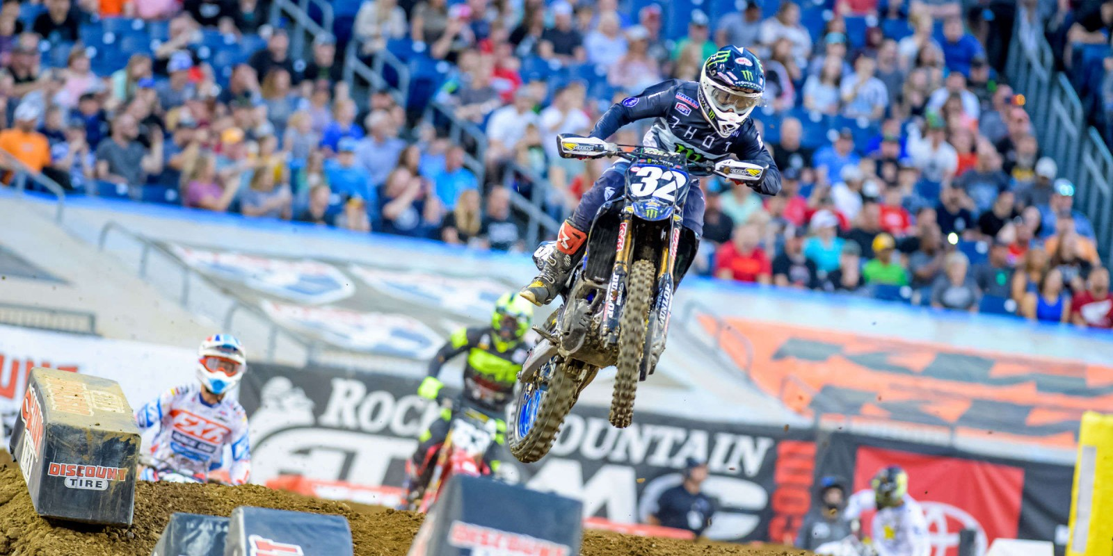 Images from the Monster Energy Supercross event at the Nissan Stadium in Nashville, TN