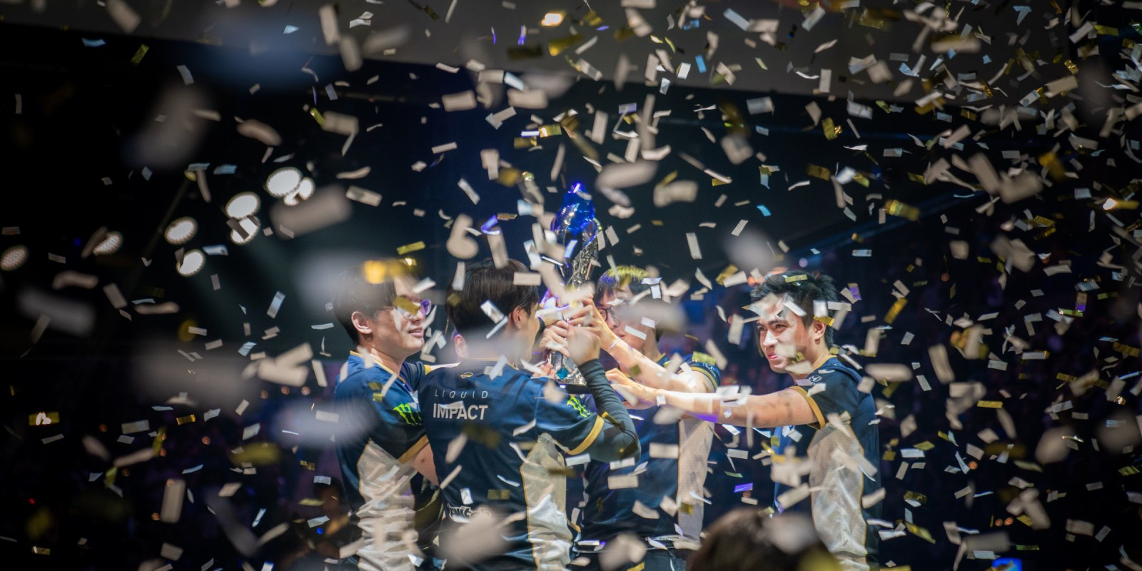 Photos of Team Liquid's League of Legends team playing in the LCS (League Championship Series) Spring Split finals. They won the series 3-2 over TSM after being down 0-2 and completing the reverse sweep.