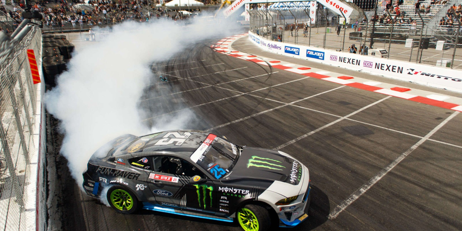 Actions shots from the Formula Drift in Long Beach