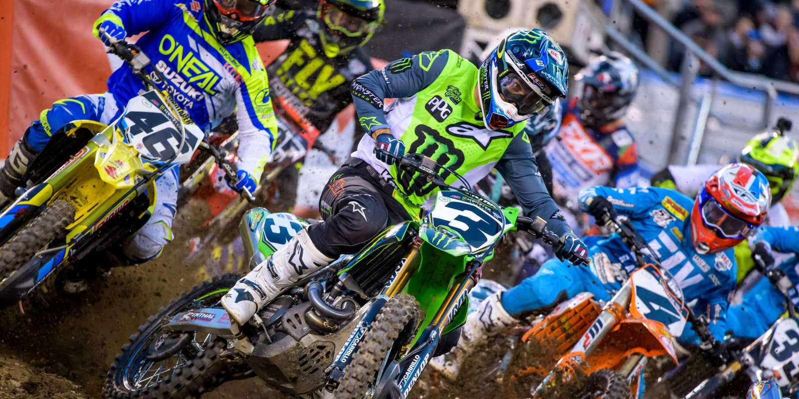 Images from the Supercross event in East Rutherford, NJ
