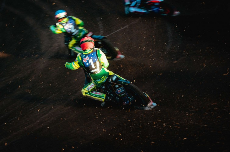 Images from the second round of the 2019 Speedway of Nations tournament in Manchester, England