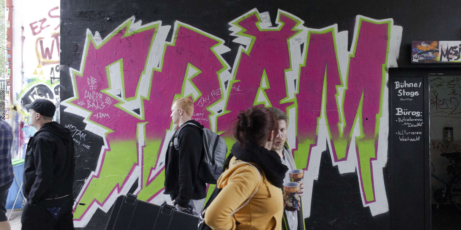 SBÄM Fest is a Punk Rock Festival in Wels, Austria. 3 Days, 2 Stages and 47 international Bands like Anti Flag, Bad Religion and many more. SBÄM (Stefan Beheim) is also graphic designer and Monster Energy Ambassador.