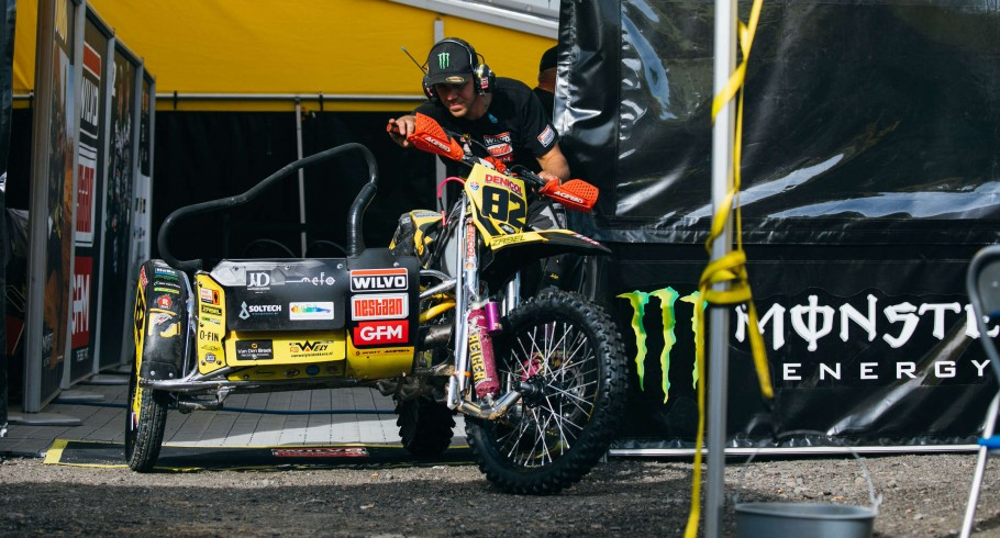 Pictures taken during the interview with Monster Athletes Etienne Bax and Kasparas Stupelis during the FIM World Sidecarcorss Championship in Kyiv