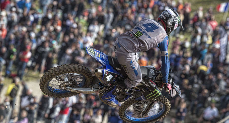 Action shot from France MXGP 2019 in Saint Jean d'Angely