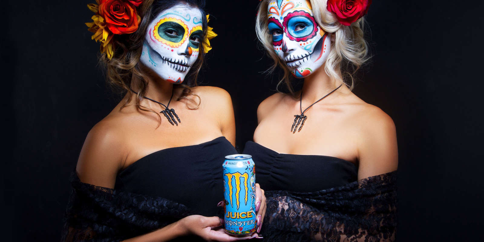 Day of the Dead Images with Monster Girls and Juice Mango Loco. For Monster Use Only until Nov 5th, 2018