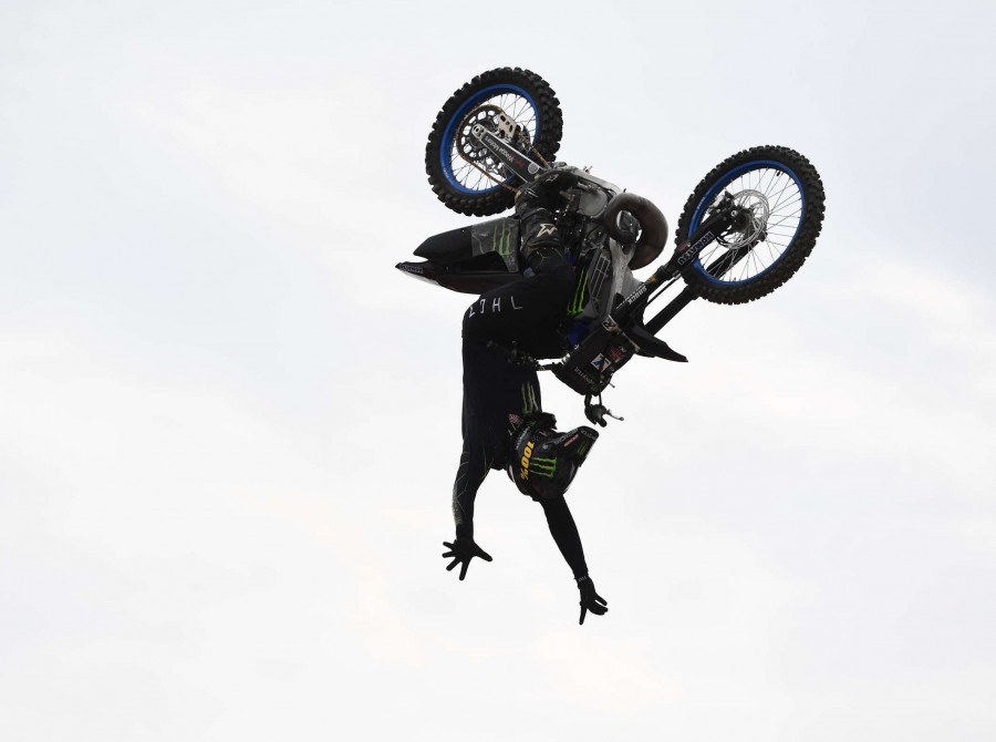 Images from the 2019 Moto X Best Trick at the X Games event in Shanghai, China
