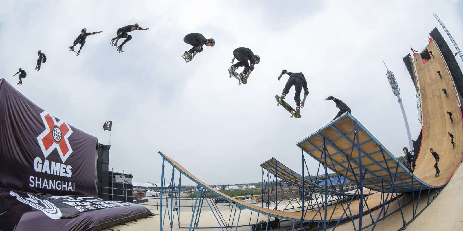 Images from the 2019 Skateboard Big Air at the X Games event in Shanghai, China