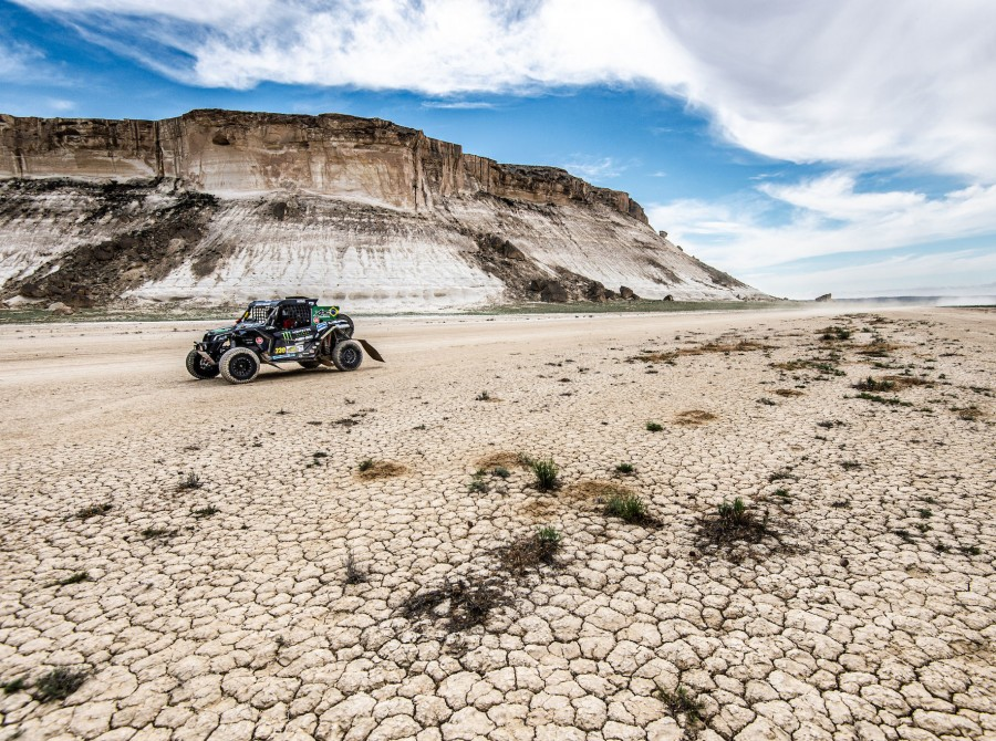 Images of the Monster Energy Can Am Team competing at Rally Kazakhstan