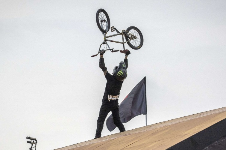 Images from the 2019 BMX Big Air at the X Games event in Shanghai, China