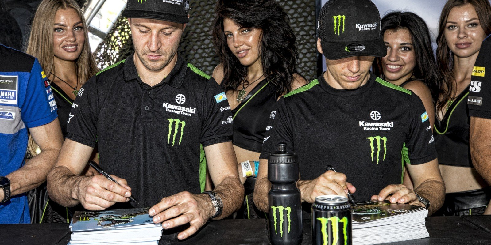 action at the MXGP Russia event, sponsored by Monster Energy