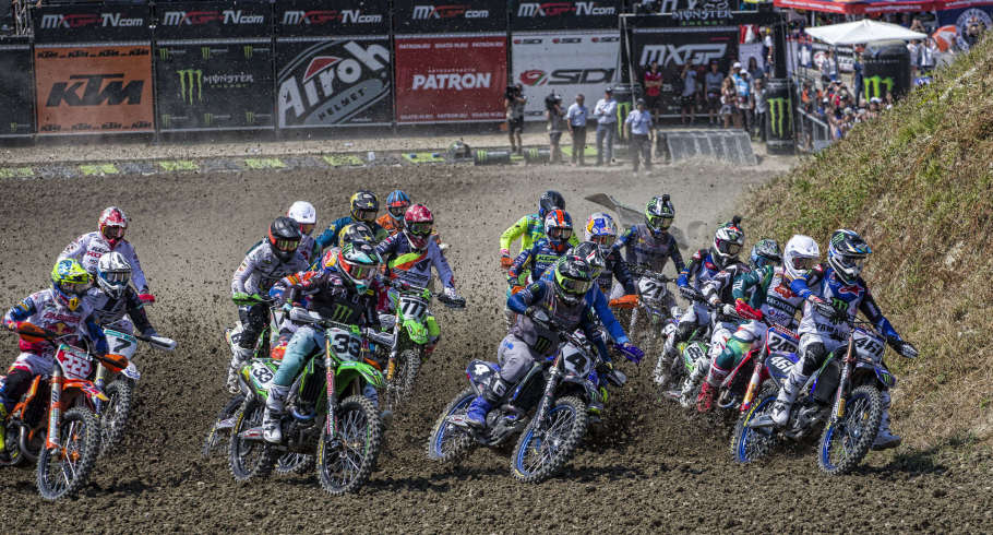 action at the MXGP Russia event