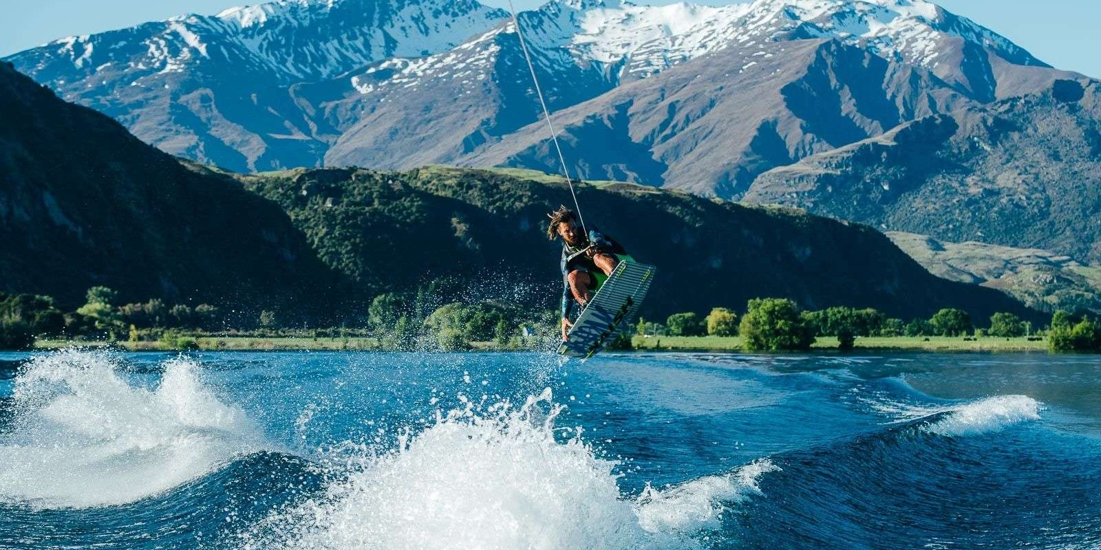 LIVE+ wakeboarding shoot in NZ. Rights Expire 1st November 2020. Digital and social channels exclusive. Any images for print will need to purchase another license.