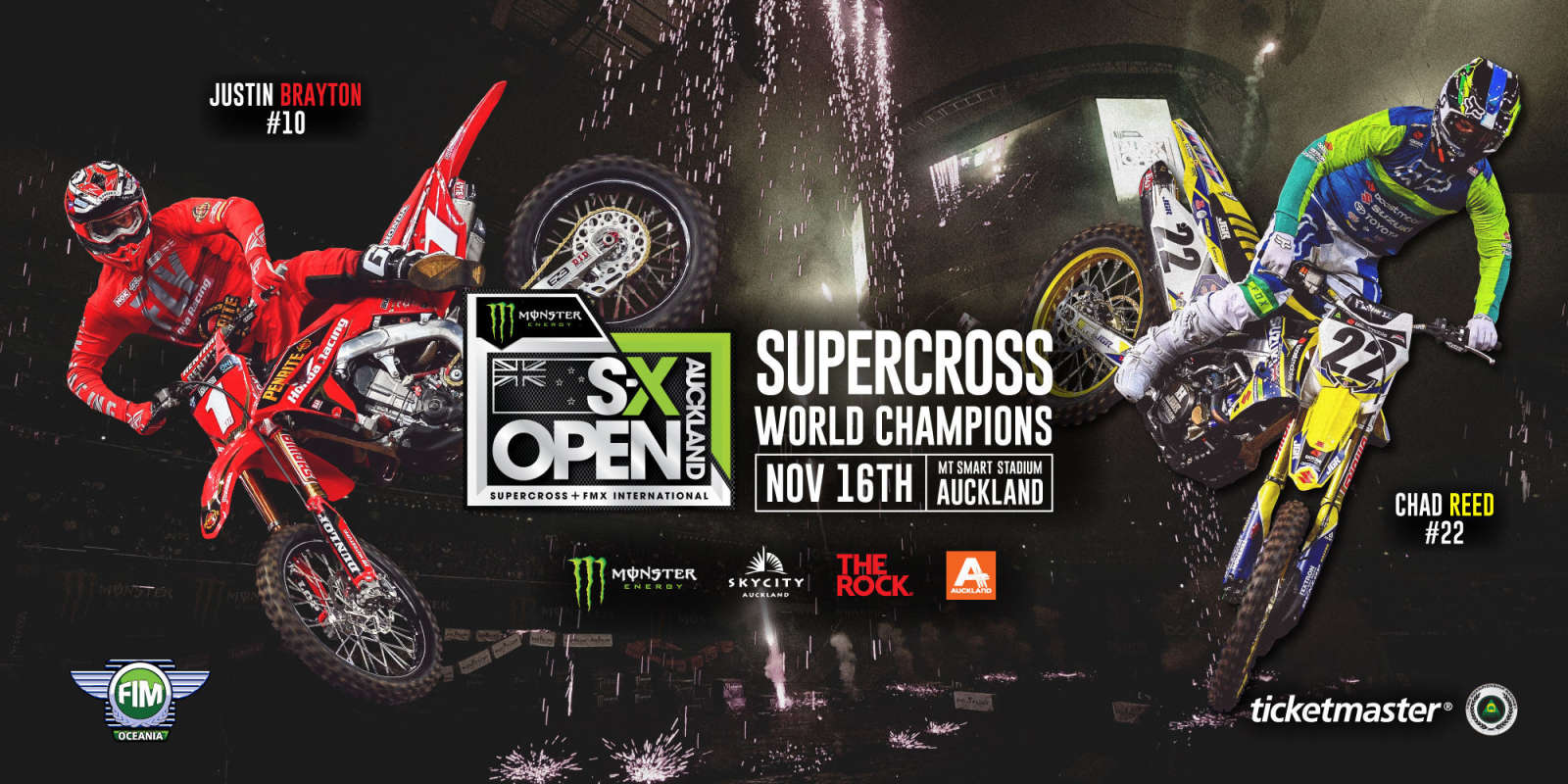 Web Banners for SX Open New Zealand event