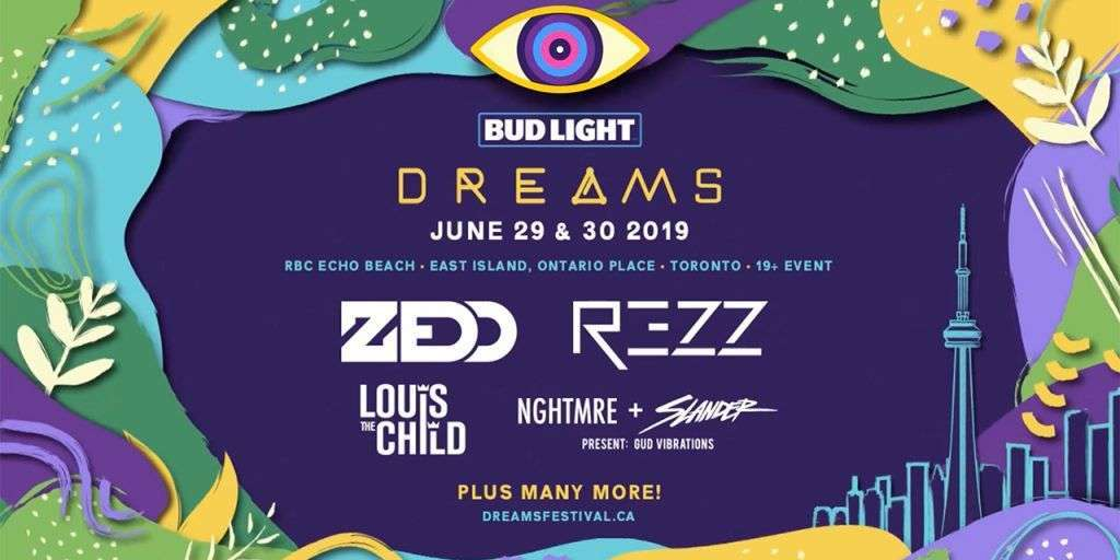Event poster for Dreams 2019