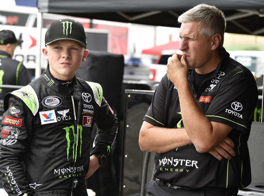 Ty Gibbs scored his first career ARCA Menards Series win with a last-lap pass of Sam Mayer in Saturday's Day to Day Coffee 150 at World Wide Technology Raceway in Madison, Illinois, near St. Louis.
