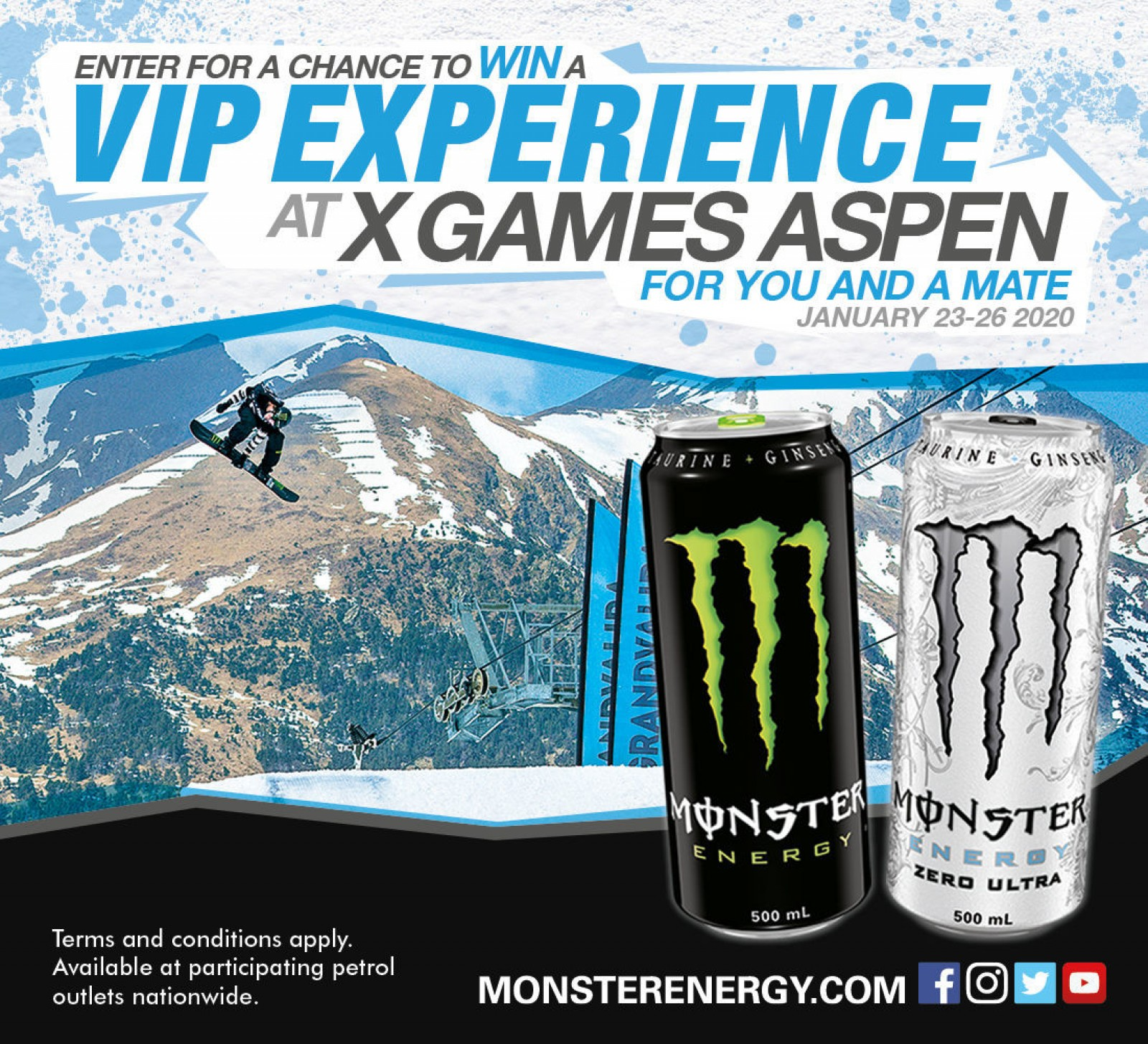 X Games 2020.Monster Energy Win A Trip To The 2020 Winter X Games