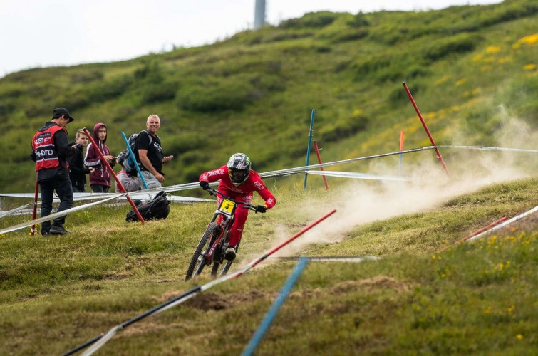 Images from practice and qualifiers for the 2019 Mountain Bike World Cup Les Gets, France.