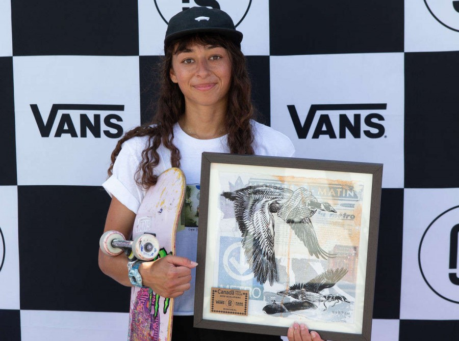 Images of Lizzie Armanto at the 2019 Vans Park Series in Montreal, Canada. Lizzie Armanto placed third, 3rd, in the VPS Finals.