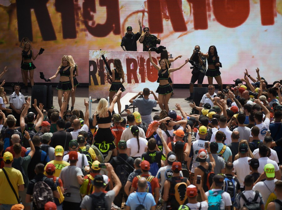 Monster Girls Rig Riot at the Catalunya MotoGP - CHECK WITH NATALIE W BEFORE USE