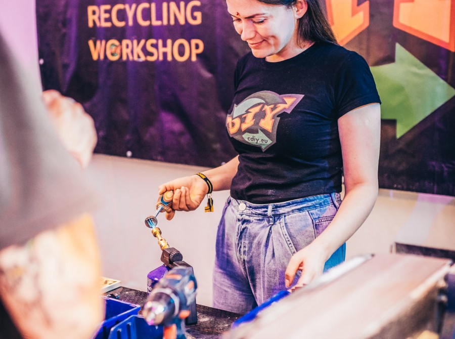 Photos from rock and metal festival Devilstone where we had a CDIY workshop at Monster Energy Activation Zone.