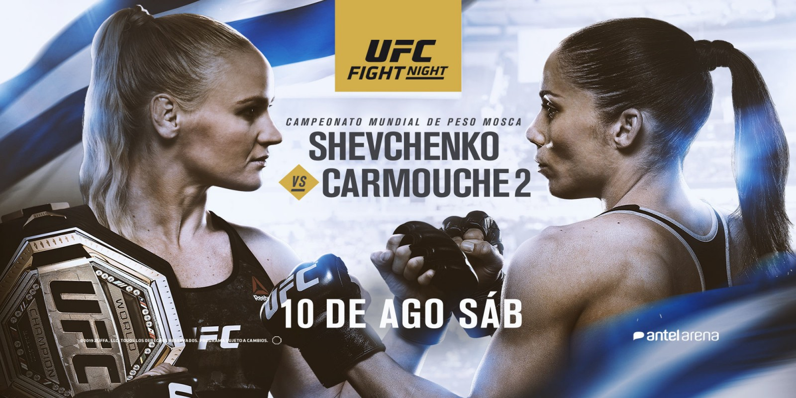 Official artwork for UFC Fight Night event in Uruguay