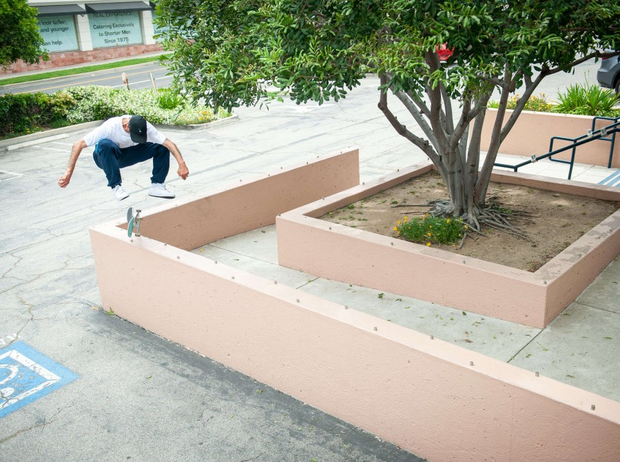 Images of of Monster athletes street skating in the San Fernando Valley on May 15, 2019