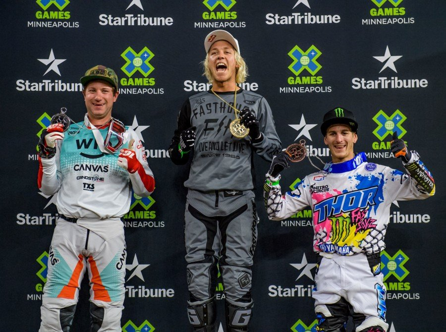 Images from the 2019 X Games Moto X Best Whip in Minneapolis, Minnesota