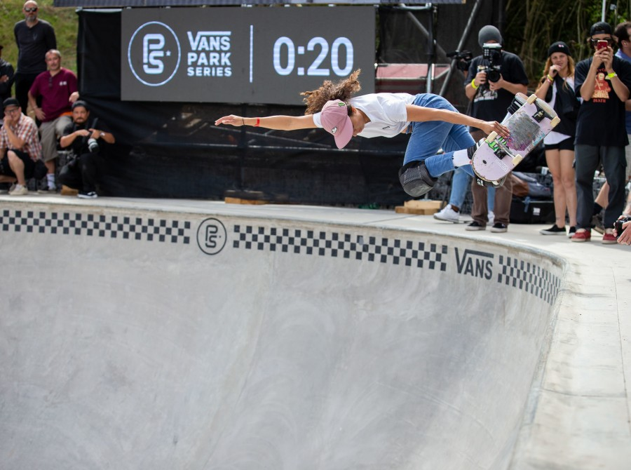 Images from the Vans Park Series in Paris, France where Lizzie Armanto earned her place on the podium with landing second place.