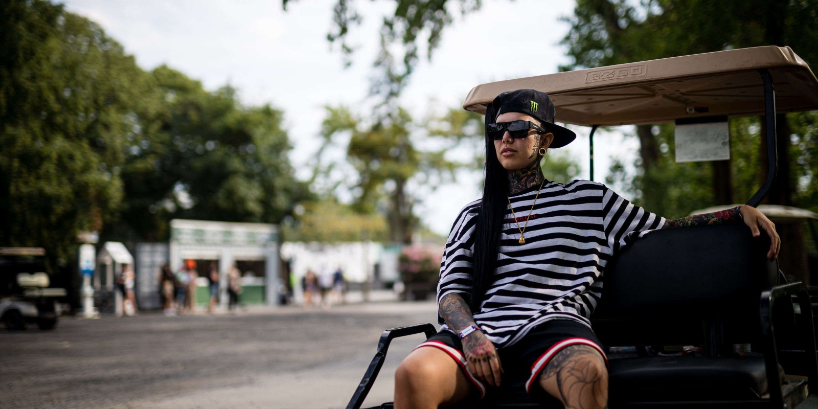 lifestyle shots of pope the barber from Osheaga