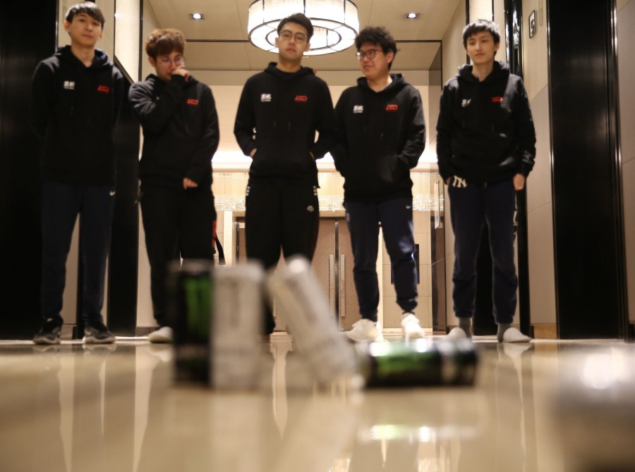 Photos of PSG.LGD Dota 2 playing in the Chongqing Major in Chongqing China. They placed 4th in this tournament.