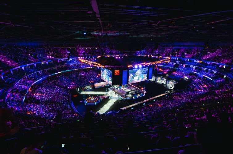 General photos from The International 2019 (TI9) held at the Mercedes Benz Arena (Max Capacity: 18000). Monster Energy teams placed 2nd, 3rd, 4th, and 13th-16th.