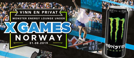 Web banner for online promotion X Games Norway