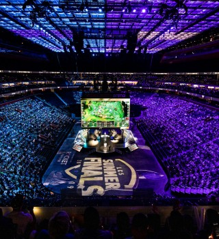 Photos of Team Liquid's League of Legends team playing in the Summer Split Finals of the LCS. They won over C9 3-2 after being down 1-2 in the series.