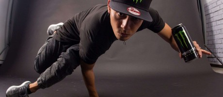 Bboy Moy during a photo shoot in Corona, CA