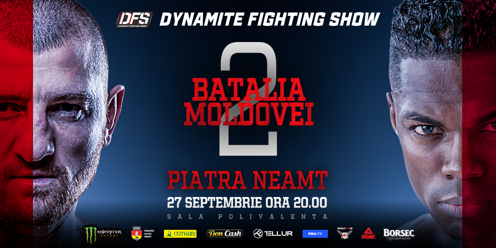 web banner for the upcoming contracted MMA event in Romanoa. Contract attached also