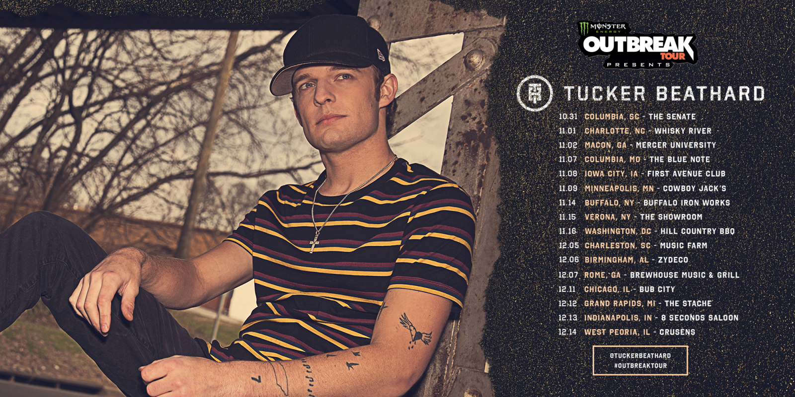 Tucker Beathard Monster Energy Outbreak Tour announcement assets and videos