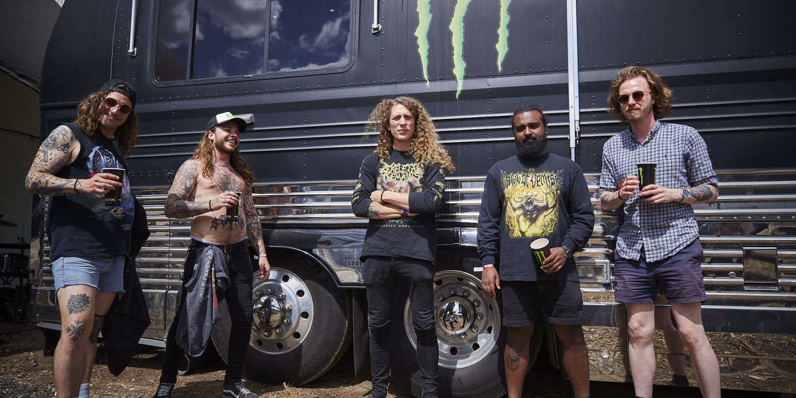 Baest band playing at Copenhell music festival in Denmark.