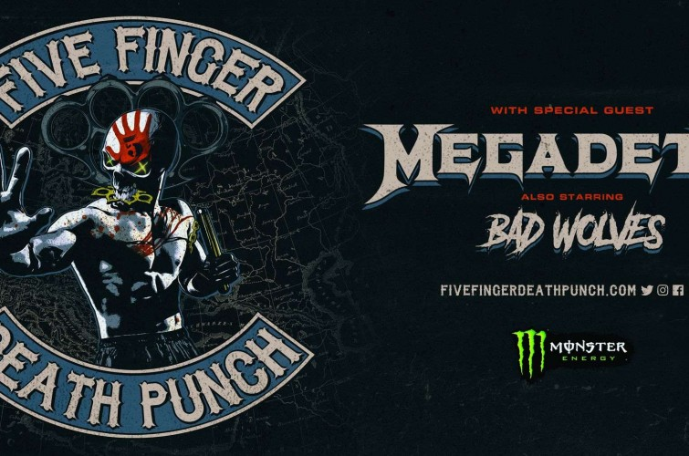 Five Finger Death Punch europe tour admats