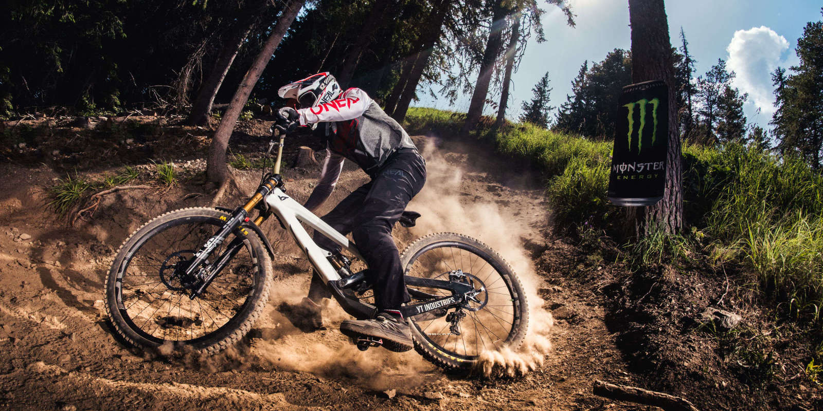 Photos of Stivian Gatev riding the Borovets downhill track, before the race. Credits: Actiongraphers.