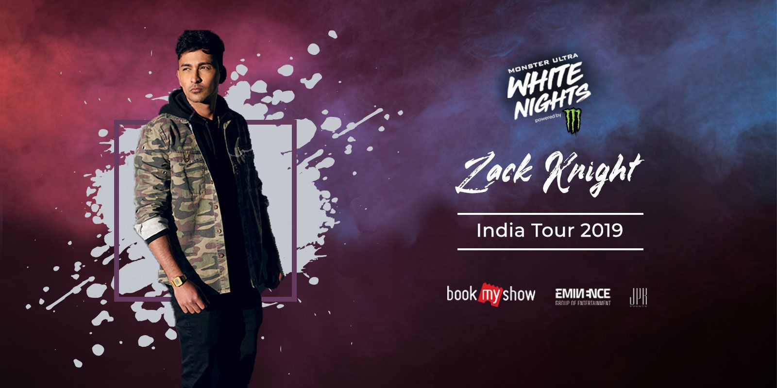 Website banner for the Ultra Nights event