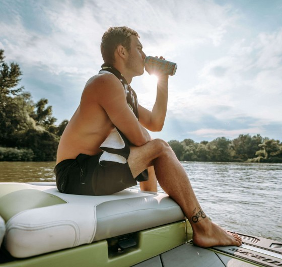 Media project with Monster Energy ambassador Kempf Zozo trying to wakesurf for the first time in his life - Hungary 2019