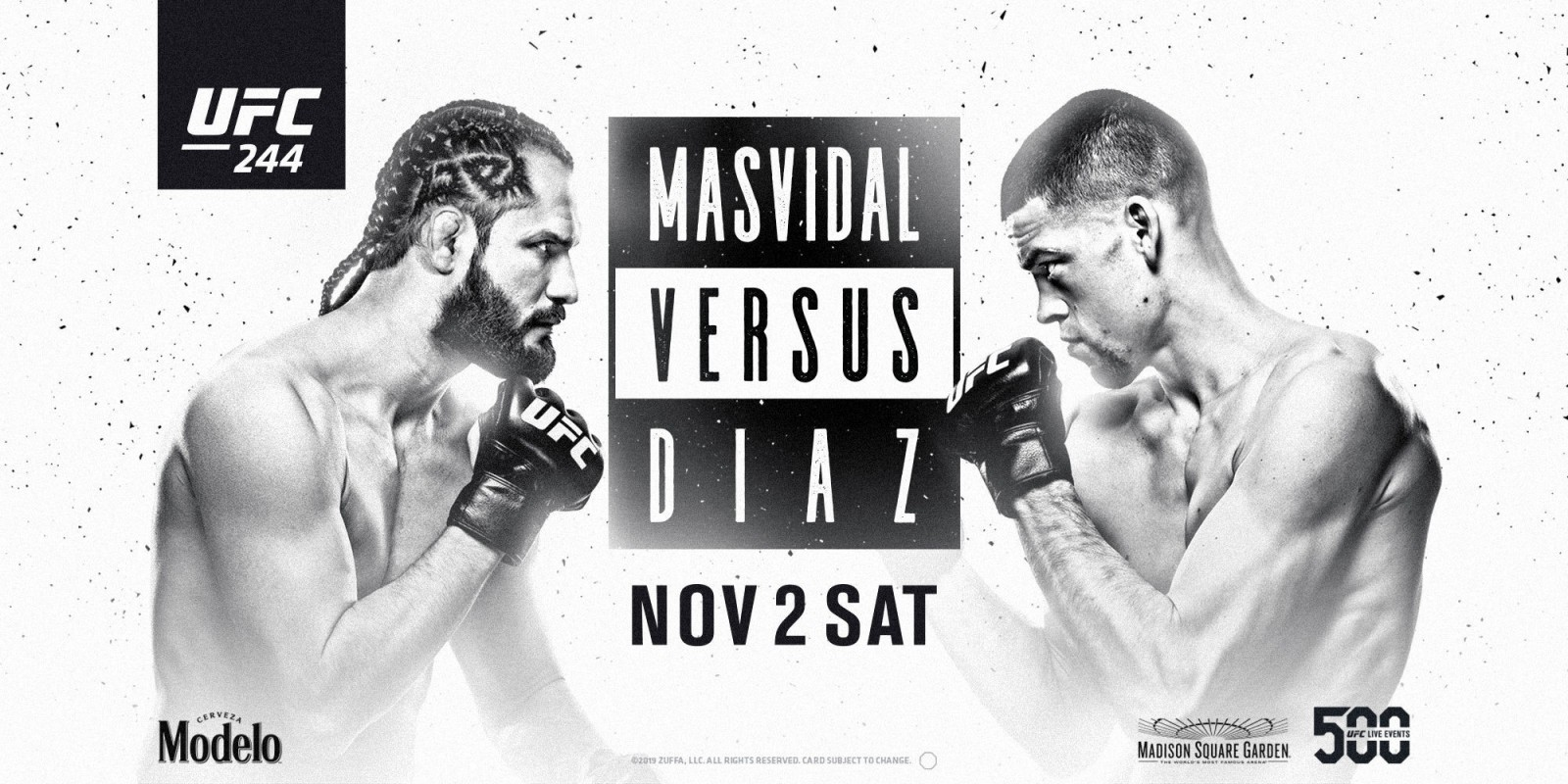 2019 MMA | UFC 244 artwork for web and social