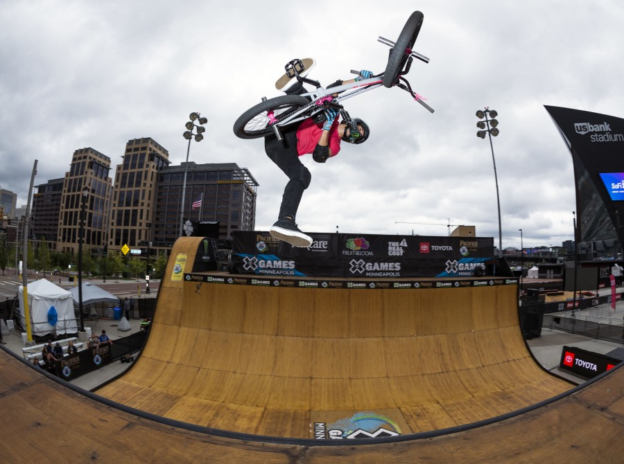 Image from the 2018 X Games BMX Practice in Minneapolis, MN