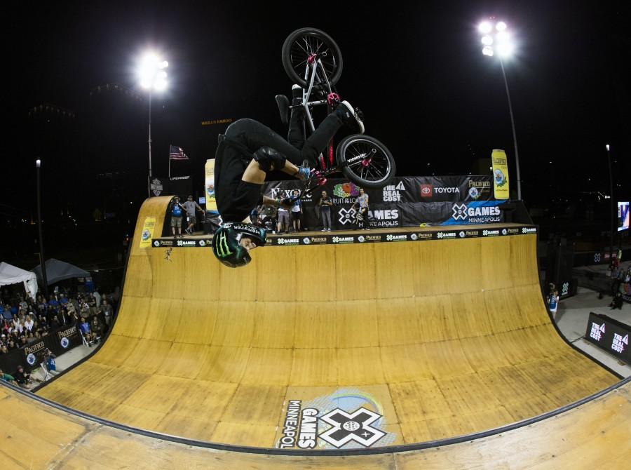 Monster athletes compete in the finals at Summer X Games