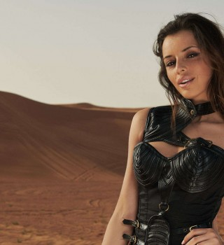 Monster Energy girls photoshoot in the desert