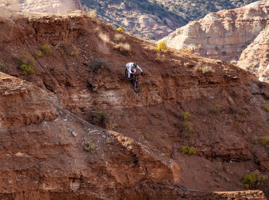 The Red Bull Rampage is an invitation-only freeride mountain bike competition held near Zion National Park in Virgin, Utah, United States, just to the north of Gooseberry Mesa