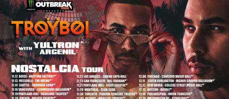 Troyboi admat resizes for Monster Energy outbreak tour