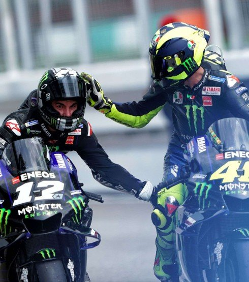 Valentino Rossi and Maverick Viñales at the 2019 Grand Prix of the Malaysia